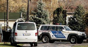 Bõny, 2016. október 26. Rendõri készültség Bõny fõutcájában, a Szabadság úton 2016. október 26-án. Mesterlövész hasal a középen látható autó tetején. Sajtóinformációk szerint lövöldözés volt az utcában. MTI Fotó: Krizsán Csaba